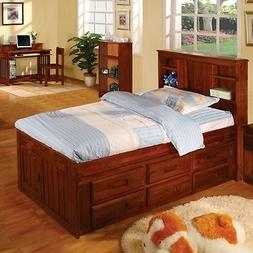 Discovery World Furniture Merlot Bookcase Captains Bed Twin