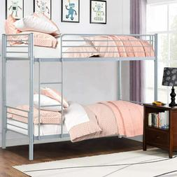 metal bunk beds over full size ladder