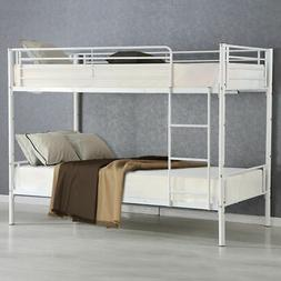 Metal Twin Over Twin Bunk Bed Beds Frame Ladder Adult Childr
