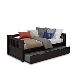 Camaflexi Mission Style Solid Wood Day Bed with Trundle, Twi