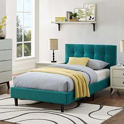 Modway  Linnea Upholstered Platform Bed with Wood Slat Suppo