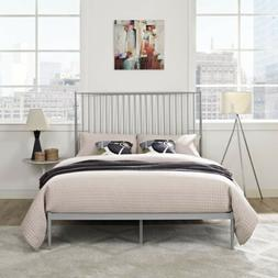 Modway MOD-5478-GRY Annika Platform Bed, Queen, Gray