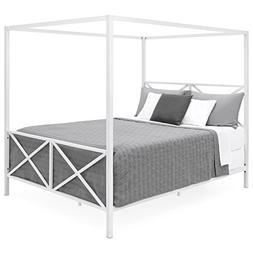 Best Choice Products Modern 4 Post Canopy Queen Bed w/Metal