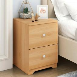 Modern Accent Table Nightstand Bed Side Table W/Storage Shel