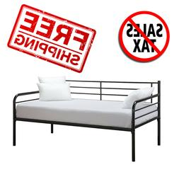Modern Finlay Daybed with Trundle Combo, Twin Metal Bed Fram