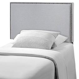 Modway Region Upholstered Linen Headboard Twin Size With Nai