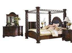 Ashley North Shore 6PC Bedroom Set E King Poster Canopy Bed