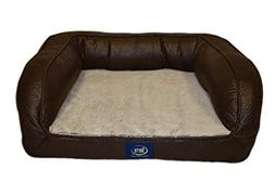 Serta Ortho Petite Couch Pet Bed, Faux Leather