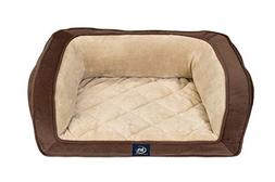 Serta Ortho Quilted Couch, Brown, Small