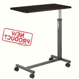 Over Bed Table Tray W/ Swivel Wheels Hospital Adjustable Rol