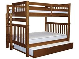 Bedz King Full Over Full Bunk Bed with Full Trundle