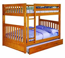 Discovery World Furniture Full Over Full Bunk Bed with Twin