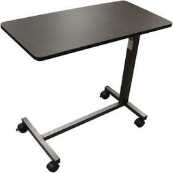 Over the Bed Side Table Wheels Hospital Overbed Rolling Tray