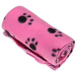 MECO Pet Dog Cat Blanket Mat Bed with Paw Prints Free Shippi