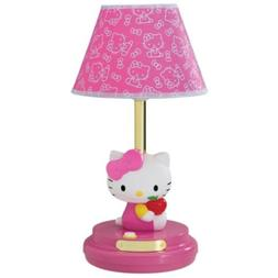 HELLO KITTY PINK DECORATIVE TABLE LAMP KIDS BEDROOM BEDSIDE