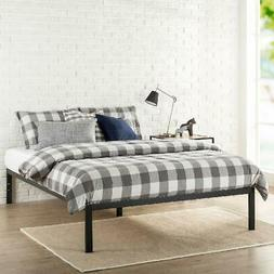 Platform Bed Frame Zinus Mia 14 Tall Mattress Black Metal wi