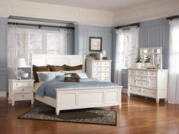 Ashley Furniture Prentice White Panel 6 Piece Queen Bed Set