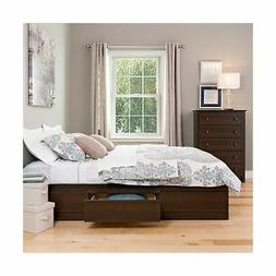 Prepac Queen Platform Storage Bed - EBQ-6200-3K