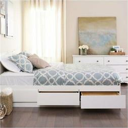 BOWERY HILL Queen Platform Storage Bed in White
