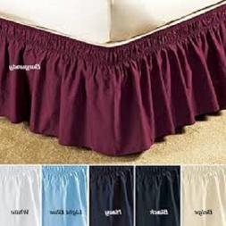 """Ruffle Wrap Around Skirt Bed 18"""" Drop Stretch Easy Fit Madis"""