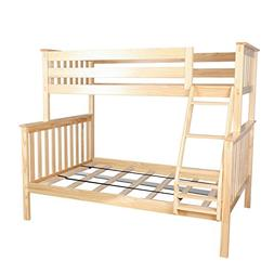 Solid Wood Twin over Full Bunk Bed, Bed For Kids Children Bu