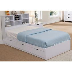 Benzara Sophisticated Snow White Finish Twin Size 3 Drawers