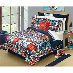 Sports Center Comforter Set by Safdie and Co, Multicolor, Tw