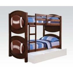 Acme Furniture ACME All Star Football Twin over Twin Bunk Be