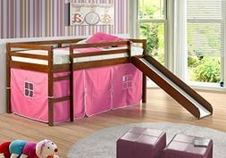 Donco Kids Tent Fabric for 750 or 780 Low Loft, Pink