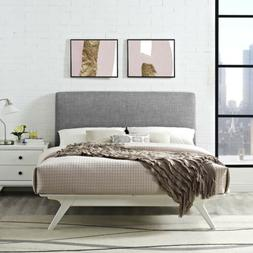 Modway Tracy Mid-Century Modern Wood Platform King Size Bed