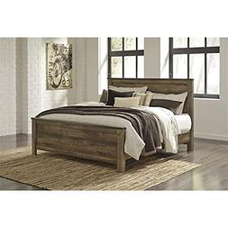 Ashley Trinell King Panel Bed in Brown