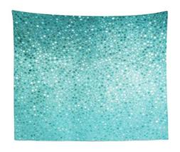 Ambesonne Turquoise Tapestry King Size, Small Dot Mosaic Til