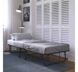 DHP Twin Folding Metal Guest Bed with 5 inch Mattress