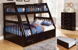 Discovery World Furniture Twin Over Full Bunk Bed with 3 Dra