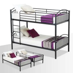 Twin Over Twin Metal Bunk Bed Frame for Kids Adult or 2 Fram