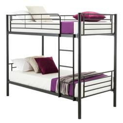 Twin over Twin Metal Bunk Beds Frame Ladder for Kids Adult B