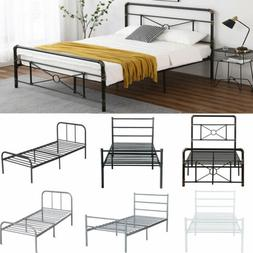 Twin Size Metal Bed Frame Heavy Duty Mattress Foundation Hea