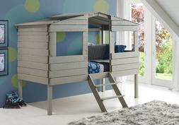Donco Kids 1380TLRG Series Bed, Twin, Rustic Grey