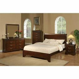 Alpine Furniture West Haven Sleigh Bed, Full Size