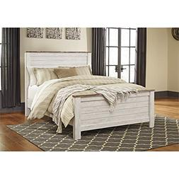 Ashley Willowton Queen Panel Bed in Whitewash